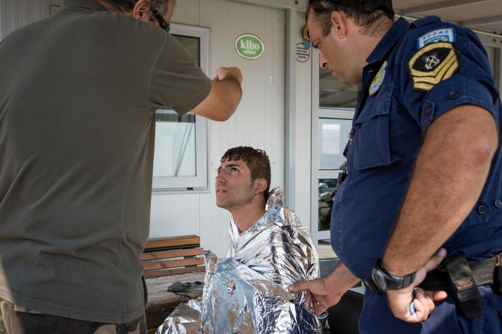 Greece. Syrian refugee Ahmed was rescued after his boat sunk